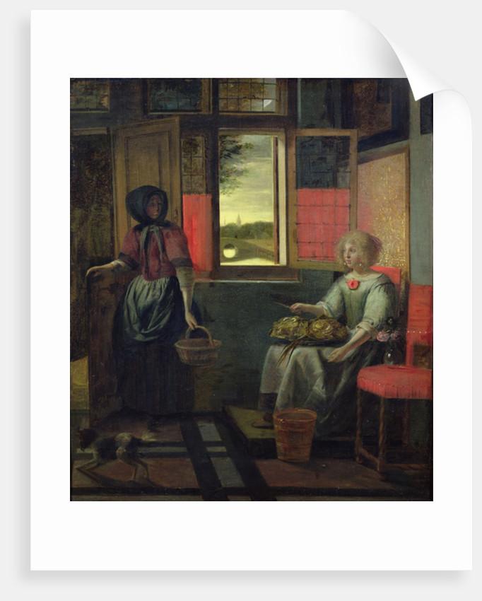A Dutch Interior by Pieter de Hooch