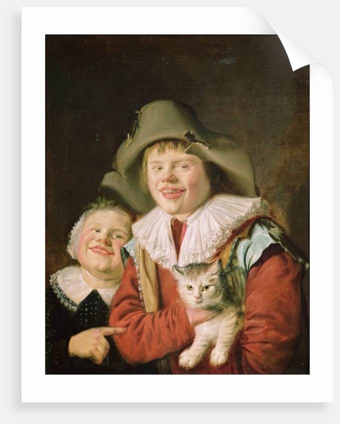 Children Playing with a Cat by Jan Miense Molenaer