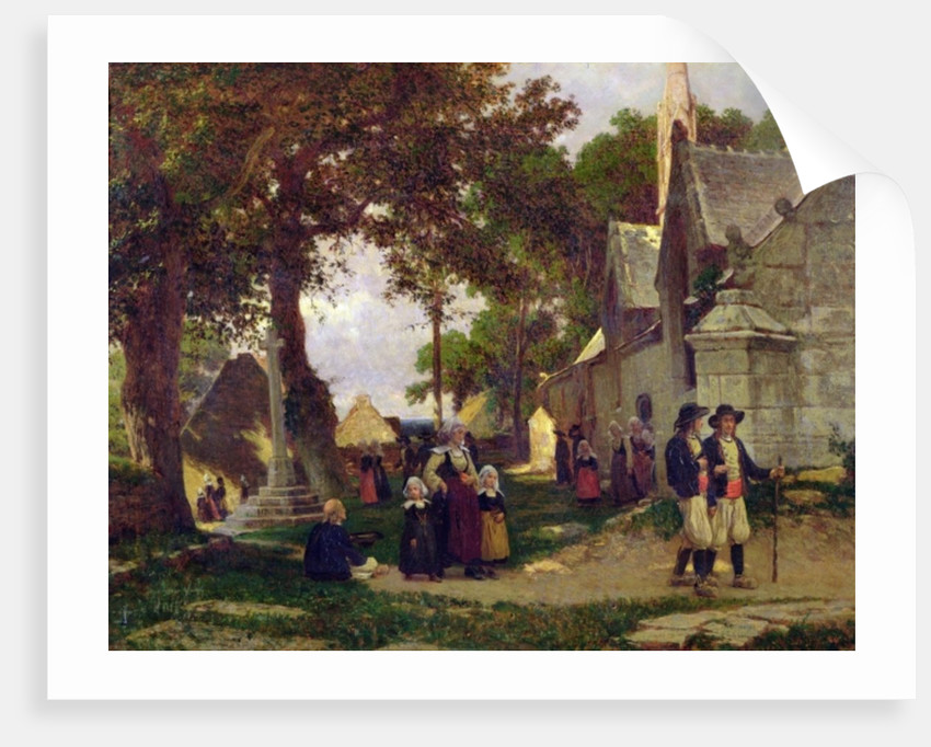 Church in Brittany by Otto Weber