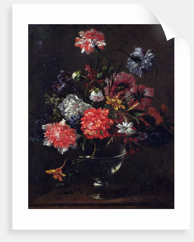 Flowers in a Glass Vase by Nicolas Baudesson