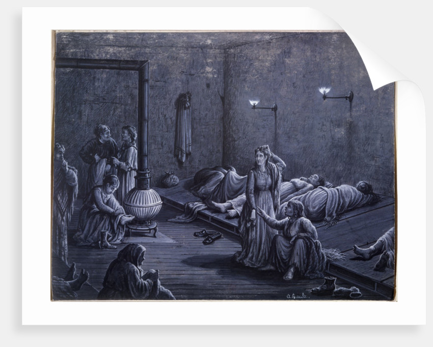 Interior of a Night Shelter for Poor Women by A. Gault