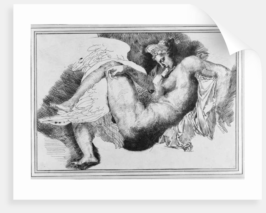 Leda, after a drawing by Michelangelo Buonarroti by Theodore Gericault