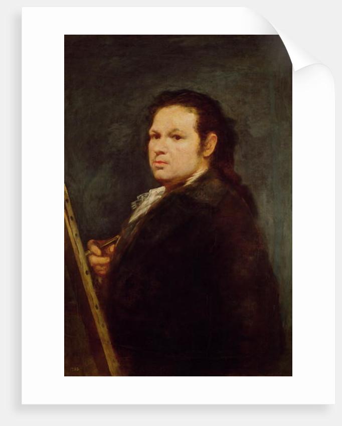 Self portrait by Francisco Jose de Goya y Lucientes