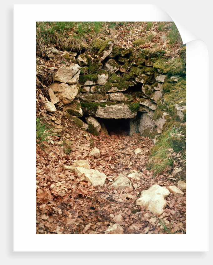 Covered entrance to a tumulus by Prehistoric
