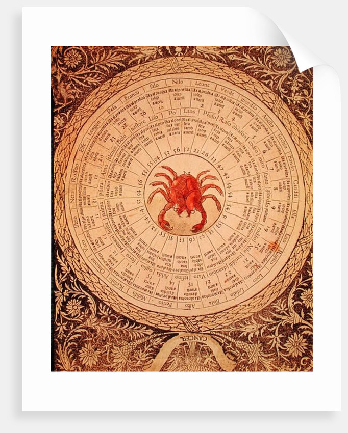 Astrological table of Cancer by Italian School