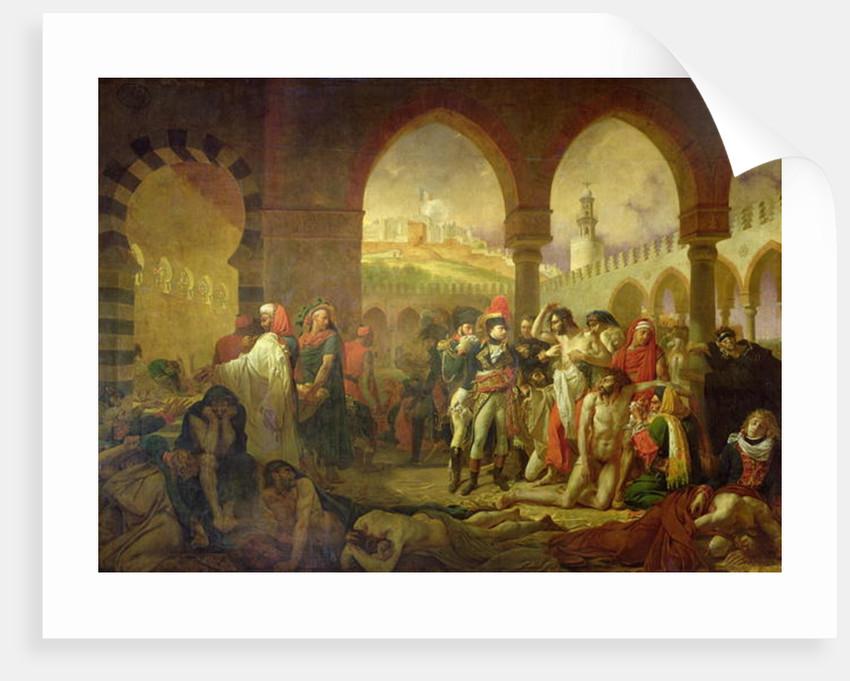 Napoleon Bonaparte visiting the plague stricken of Jaffa by Baron Antoine Jean Gros