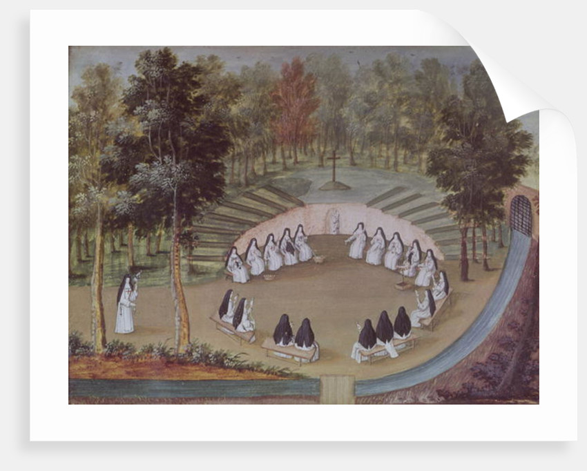 Nuns Meeting in Solitude by Louise Madelaine Cochin