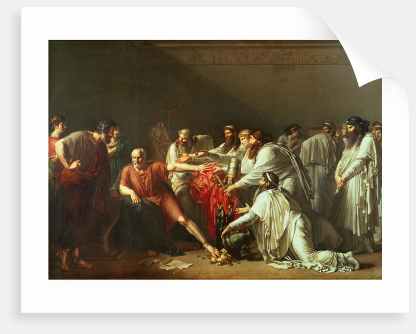 Hippocrates Refusing the Gifts of Artaxerxes I by Anne Louis Girodet de Roucy-Trioson
