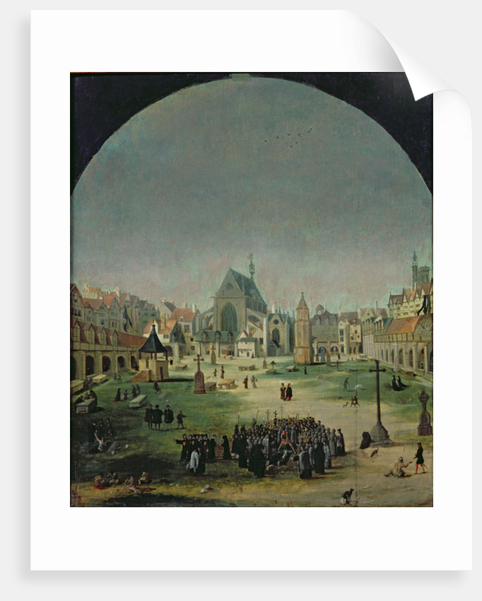 The Cemetery of the Innocents and the Mass Grave During the Reign of Francois I by Flemish School