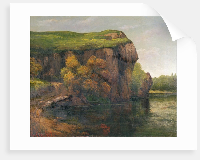 Rocky Cliffs by Gustave Courbet