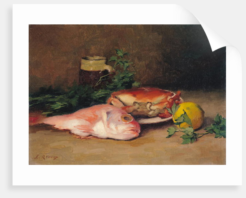 Crab and Red Mullet by Jules Ernest Renoux