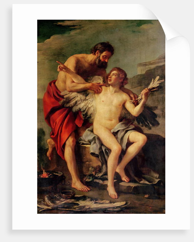 Daedalus Attaching Icarus' Wings by Joseph-Marie