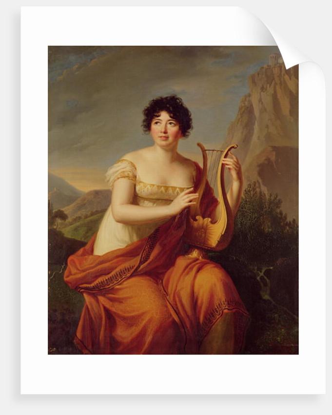 Madame de Stael as Corinne by Firmin Massot