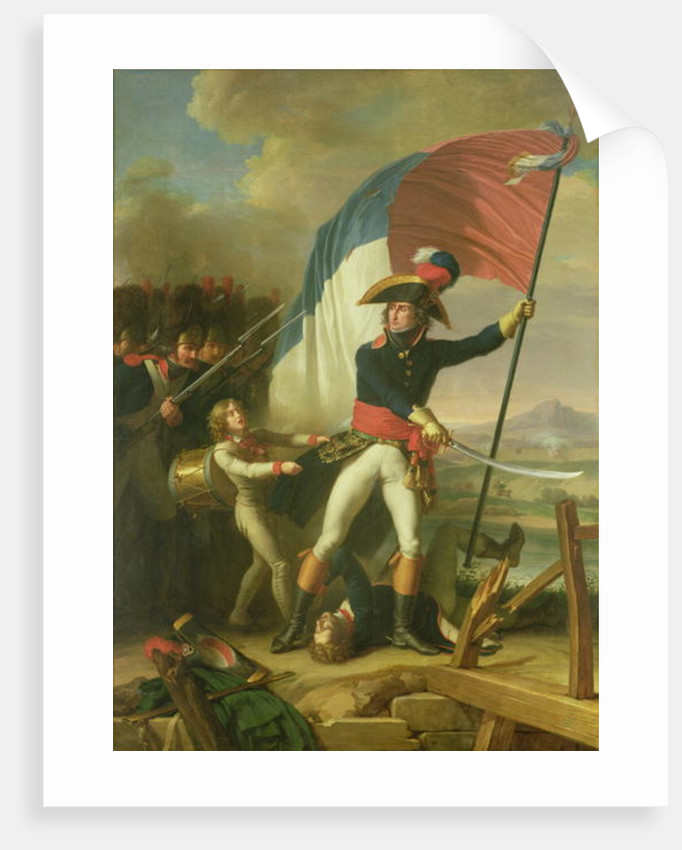General Augereau on the Bridge at the Battle of Arcola on the by Charles Thevenin