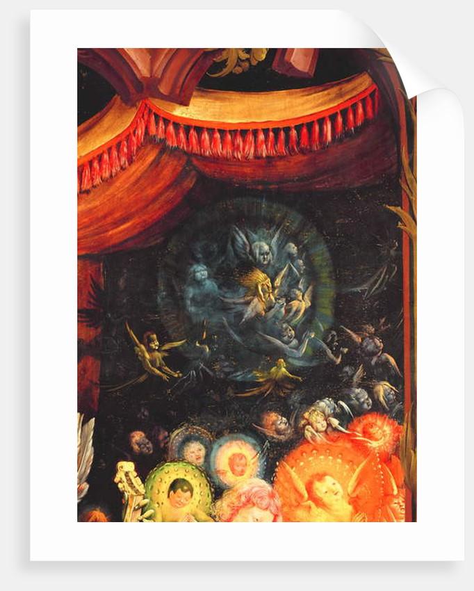 Angels under the dais by Matthias Grunewald