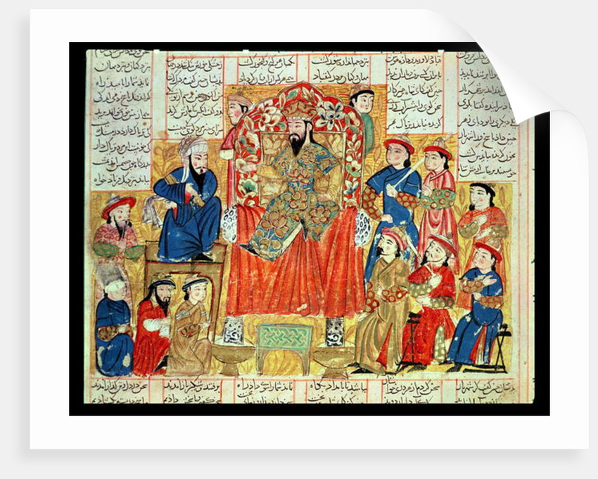 A Sultan and his Court by Persian School
