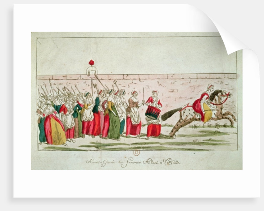 March of the Women on Versailles by French School