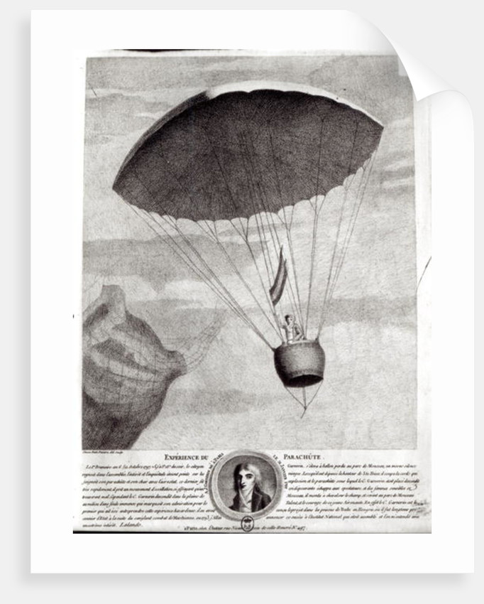 The First Parachute Descent by Andre Jacques Garnerin over Parc Monceau by Simon Petit