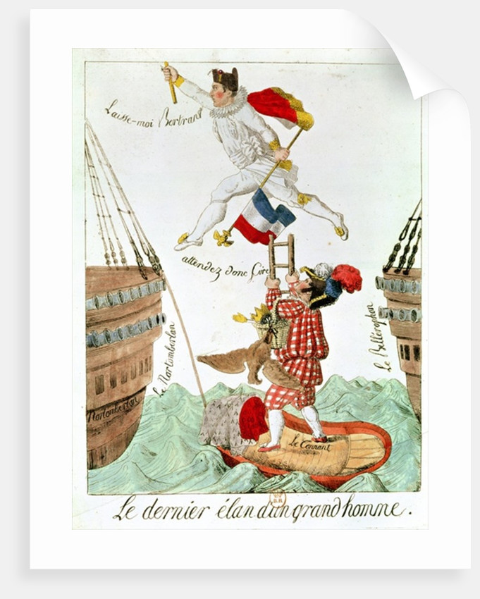 The Last Leap of a Great Man by French School
