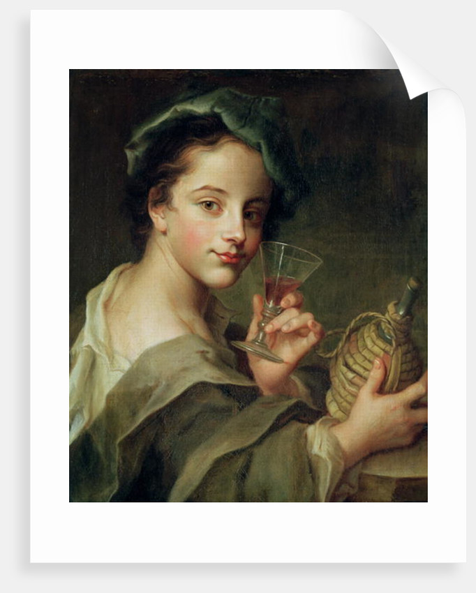 Woman with a Glass of Wine by Philippe Mercier
