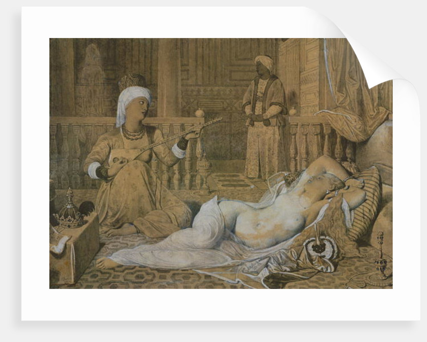 Odalisque with a Slave by Jean Auguste Dominique Ingres