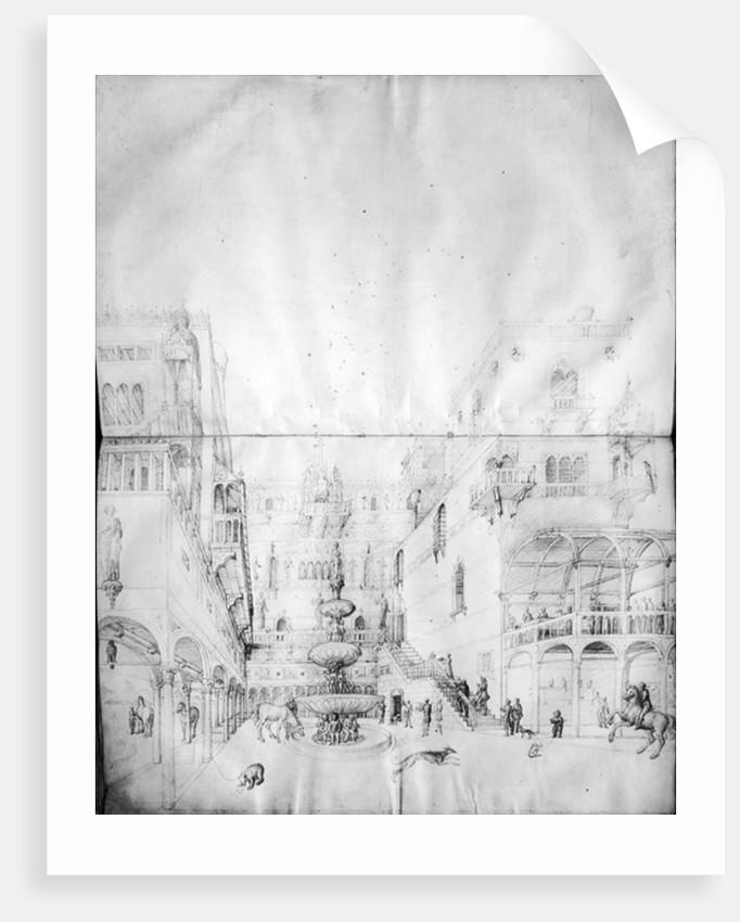 Fol.16v-17r Herod's Palace by Jacopo Bellini