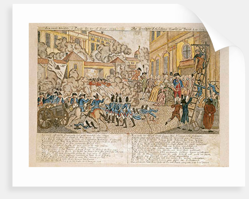 The Terrible Night in Paris, 10th August 1792 by French School