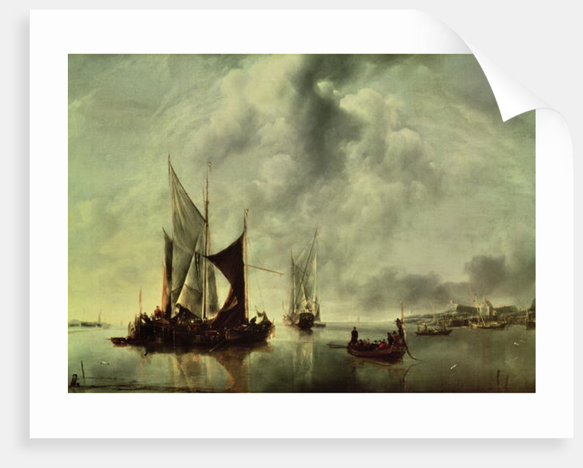 Calm or, Boats near the Coast by Jan van de Capelle or Cappelle
