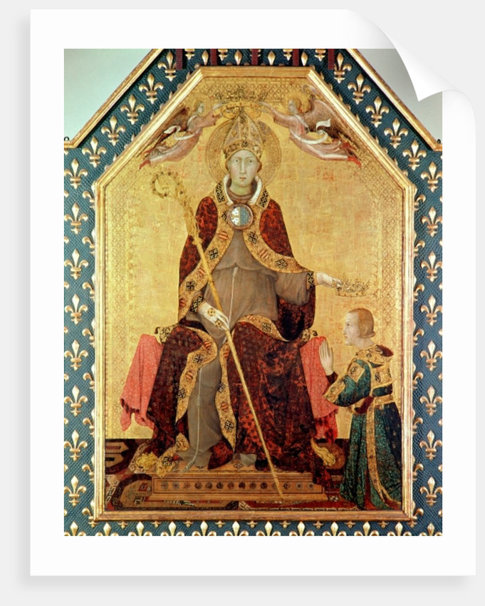 St. Louis of Toulouse crowning his brother, Robert of Anjou from the Altar of St. Louis of Toulouse by Simone Martini