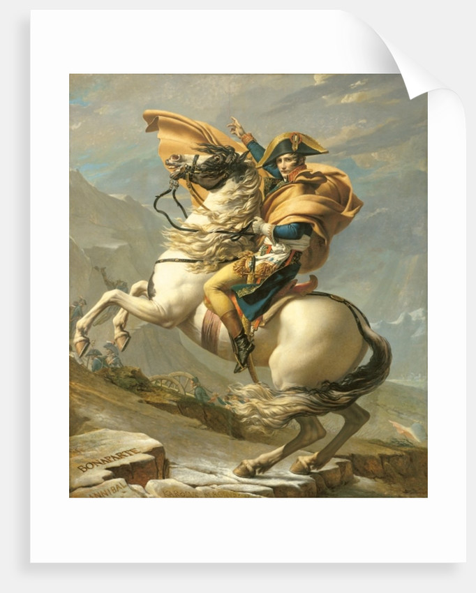 Napoleon Crossing the Alps at the St Bernard Pass by Jacques Louis David