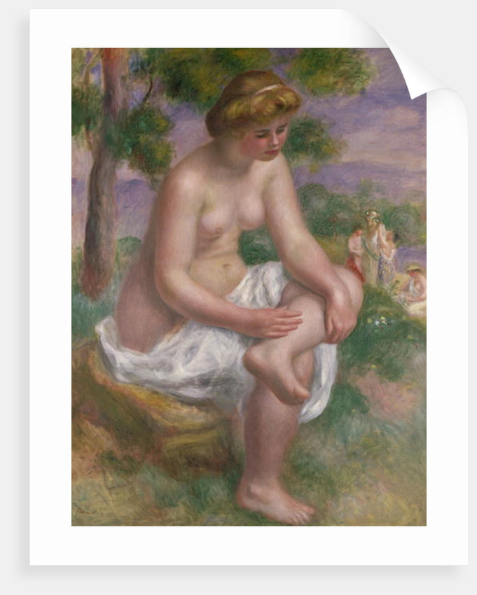 Seated Bather in a Landscape or, Eurydice by Pierre Auguste Renoir
