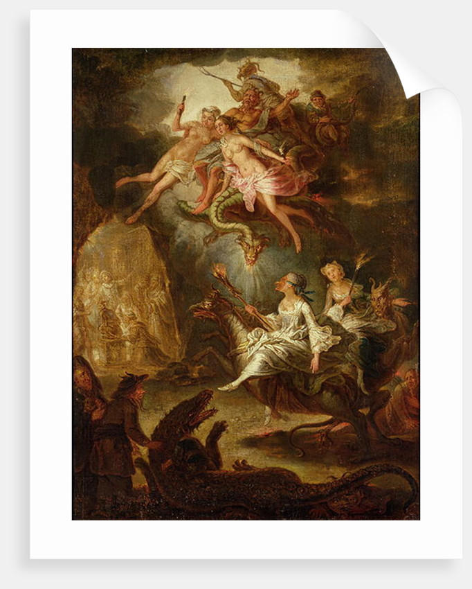 The Arrival at the Sabbath and the Homage to the Devil by Antoine Francois Saint-Aubert