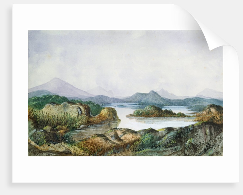 Landscape with a Lake by George Sand