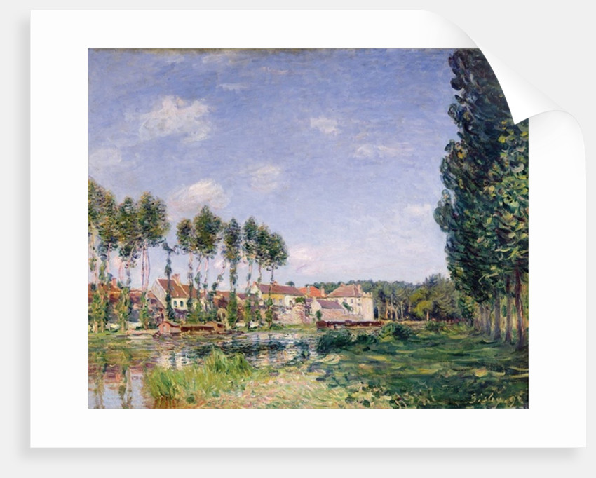 Banks of the Loing, Moret by Alfred Sisley