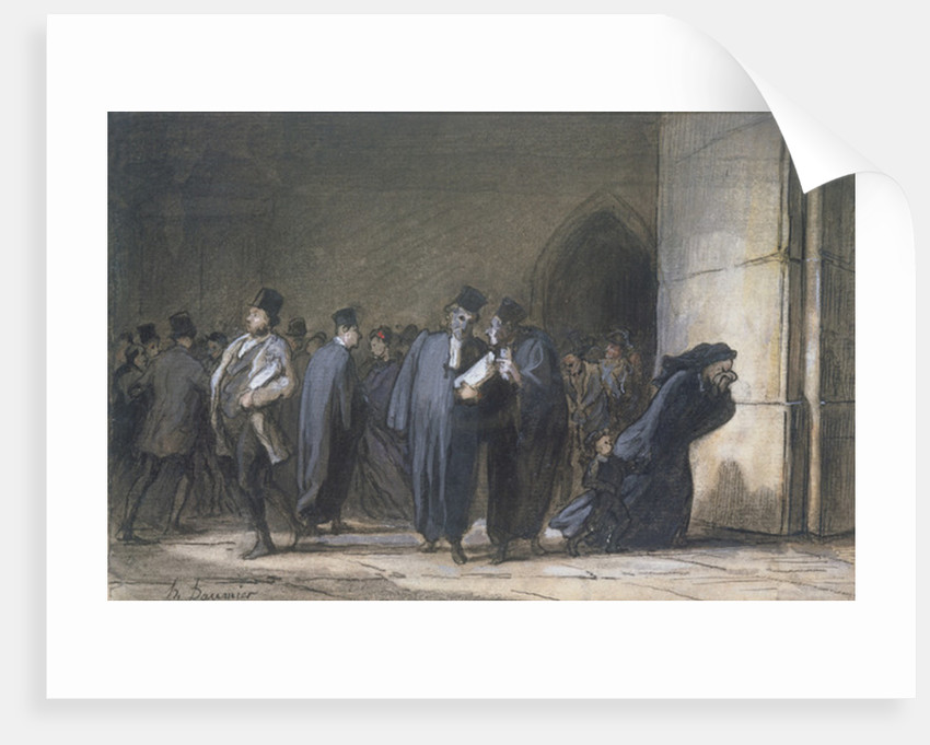 At the Palace of Justice by Honore Daumier