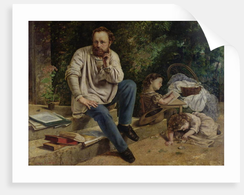 Pierre Joseph Proudhon and his children in 1853 by Gustave Courbet