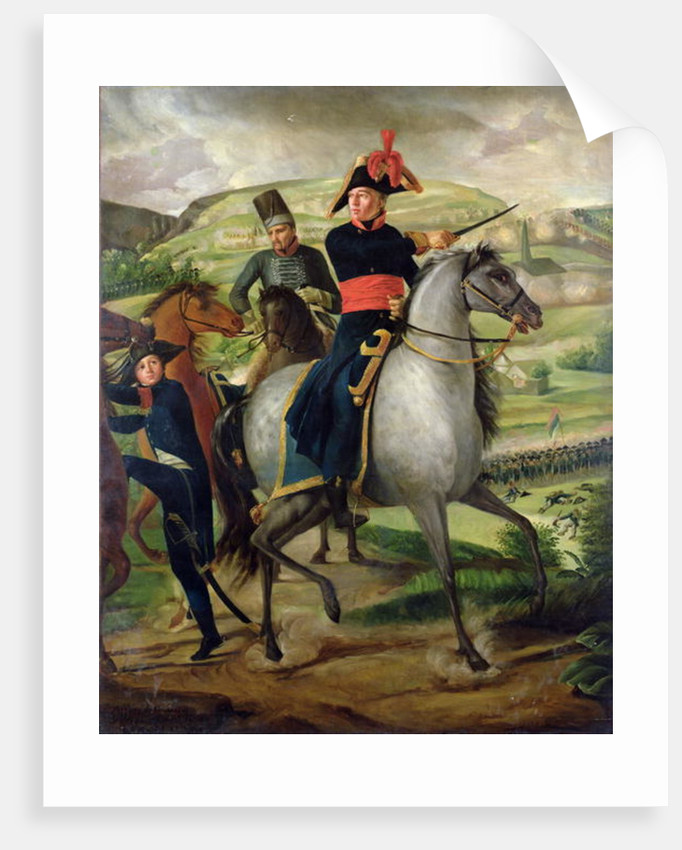 General Louis Marie Turreau de Garambouville at the Gravieres Affair by French School