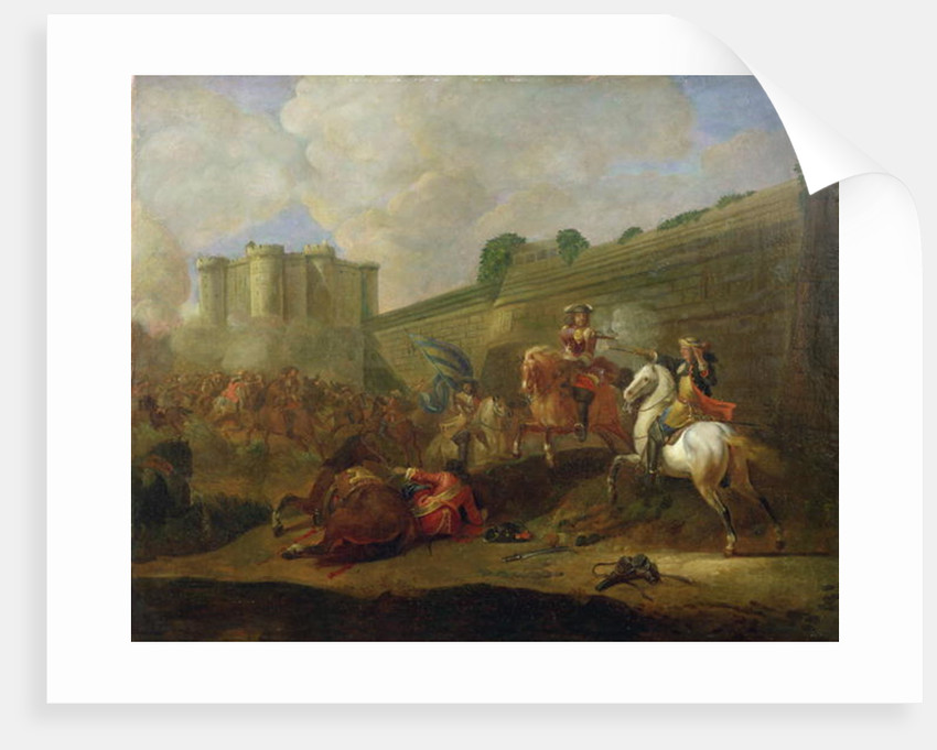 Episode of the Fronde at the Faubourg Saint-Antoine by the Walls of the Bastille by French School