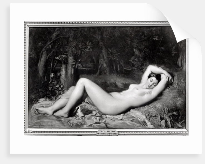 Sleeping Nymph by Theodore Chasseriau