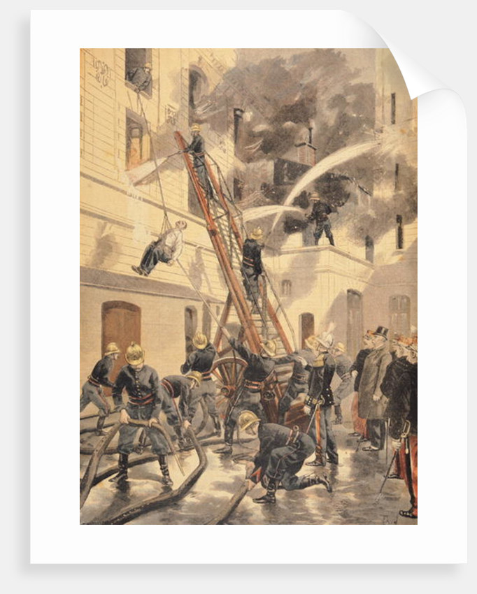 Felix Faure with the firemen by F.L. & Tofani