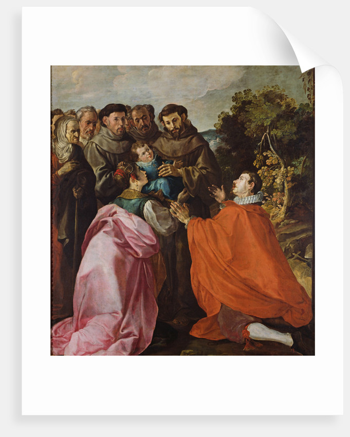 Healing of St. Bonaventure by St. Francis of Assisi by Francisco Herrera