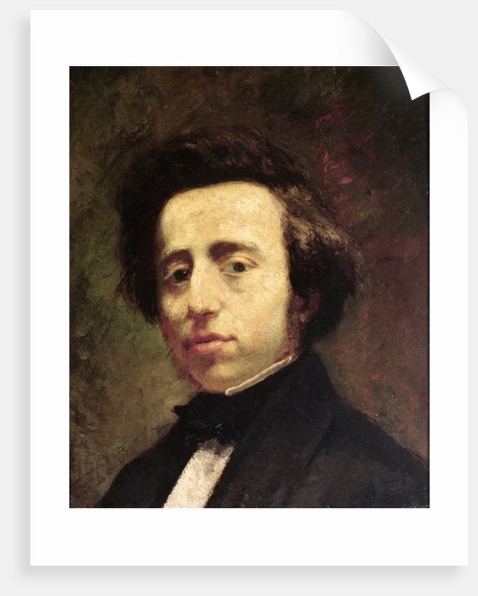 Portrait of Frederic Chopin by Thomas Couture
