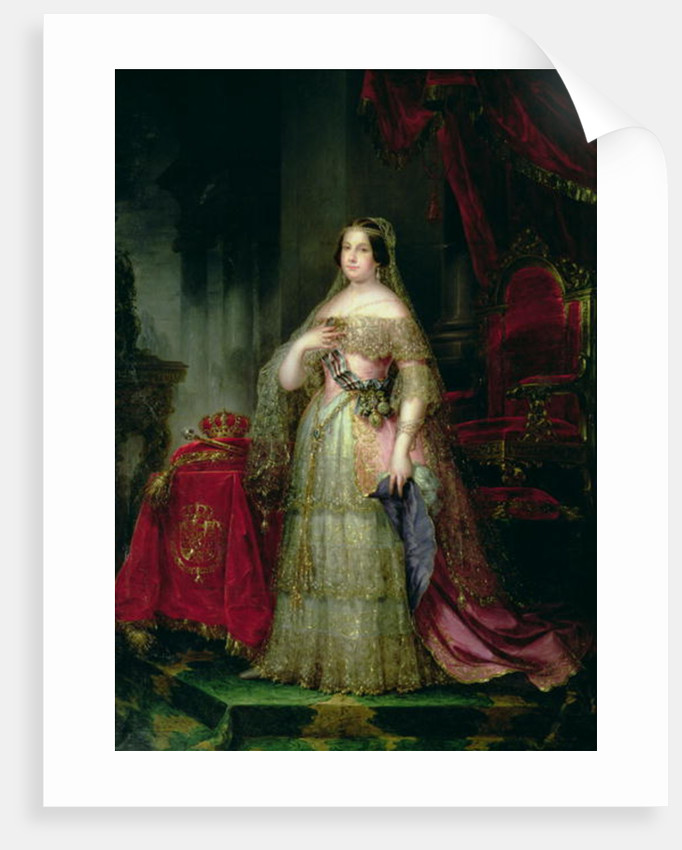 Queen Isabella II of Spain by Jose Gutierrez de la Vega
