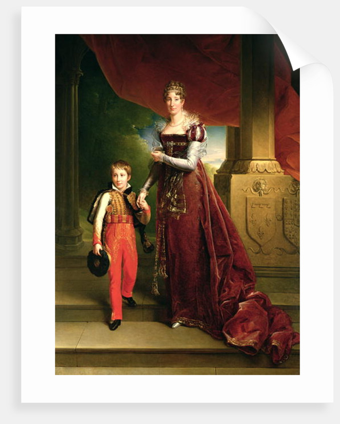 Marie Amelie de Bourbon Duchess of Orleans and her Son, Prince Ferdinand Duke of Chartres by Francois Pascal Simon