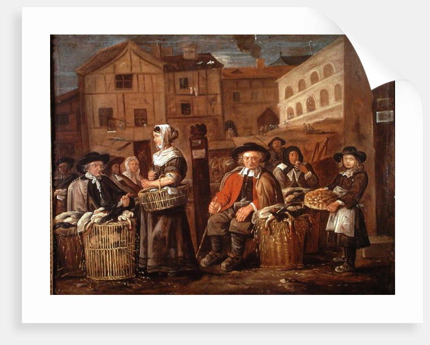 Market Scene by Jean Michelin