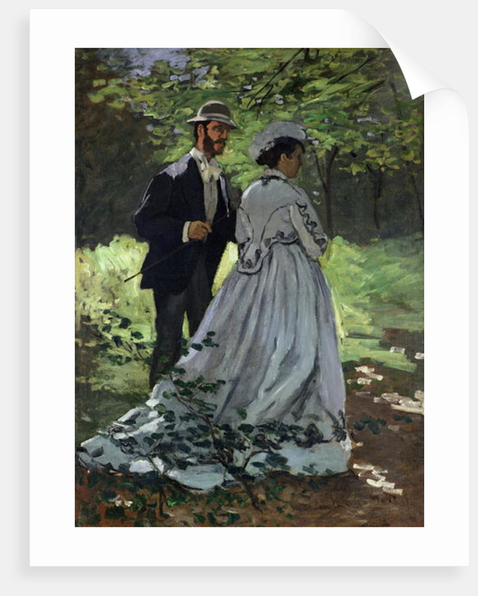 The Promenaders, or Claude Monet Bazille and Camille by Claude Monet