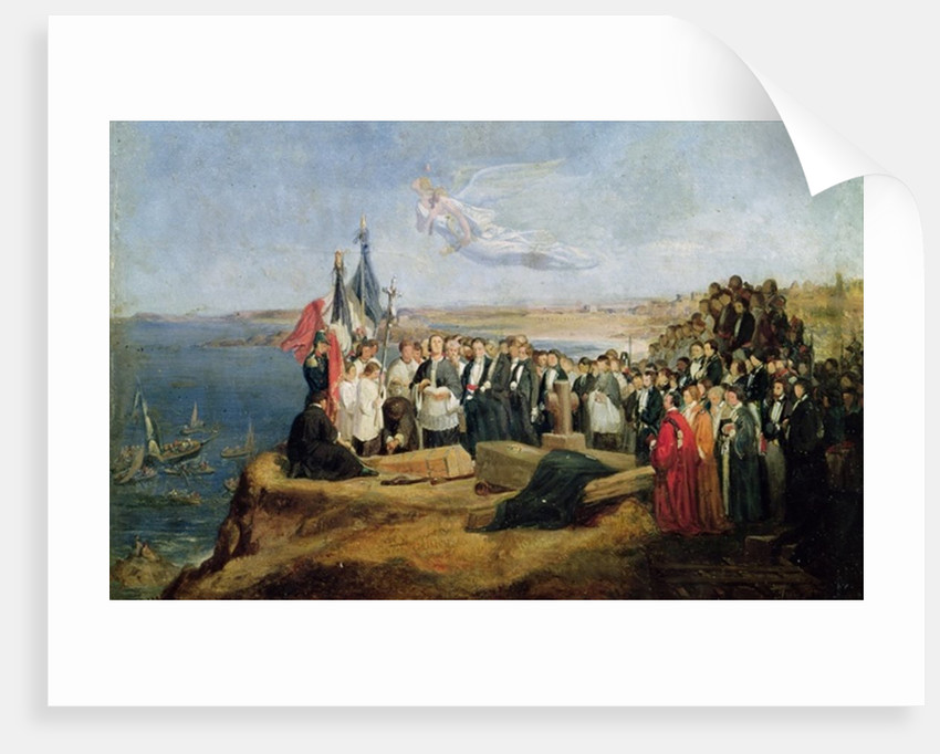 Burial of the Vicomte de Chateaubriand at Grand-Be by Valentin Louis Doutreleau