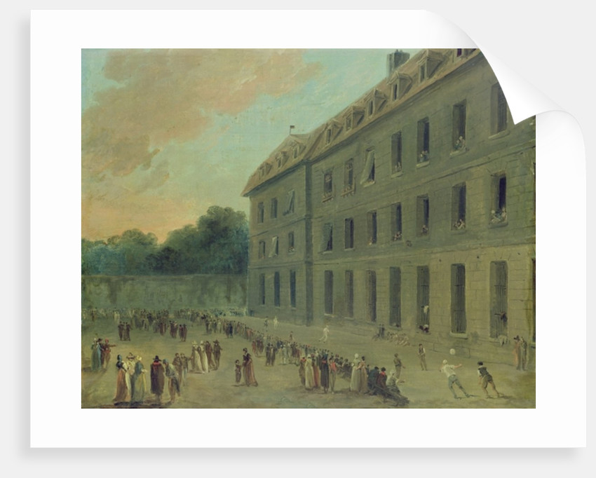 Recreation at the Saint-Lazare Prison by Hubert Robert