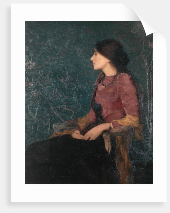 Seated Portrait of Thadee-Caroline Jacquet, later Madame Aman-Jean, before 1892 by Edmond-Francois Aman-Jean