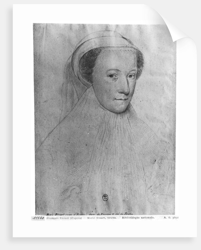 Mary, Queen of Scots in white mourning by Francois Clouet